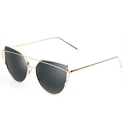 Marca Gato Moda UV400 de de Planos Hombre Estilo 02 Metal Mujer Polarizadas Ojo Color Con de y Espejo reg; Sol forepin Gafas Protección Lentes 1qw8xz8P