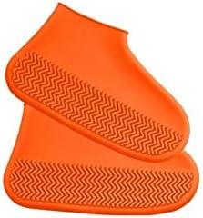 XHYRB 防水靴カバー、シリコーン防水靴カバー、男性と女性のための非濡れた靴は、太いノンスリップは、カバーバッグアウトドアプレイウォータースポーツシューズに配置することができます(赤、28から46) 防水靴、防雨カバー、長靴 (Color : Orange, Size : M(33-38))