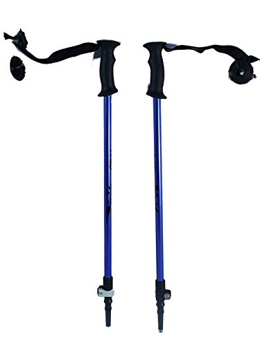 WSD Ski Poles Telescopic Adjustable Collapsible Kids Junior Downhill/Alpine ski Poles Pair with Baskets 32
