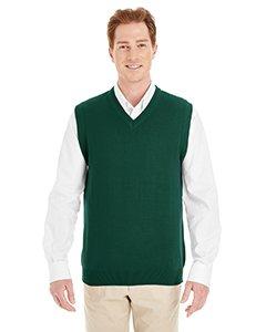 V-neck Performance Sweater Vest (Harriton Mens Pilbloc V-Neck Sweater Vest (M415) -HUNTER -5XL)