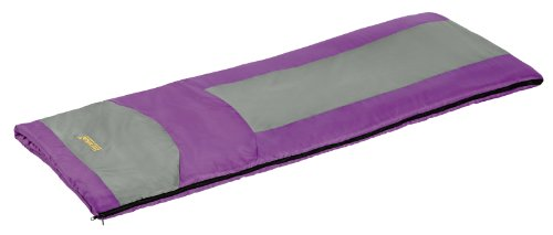 Eureka Lightning Bug 45 Degree Childrens Rectangular Sleeping Bag; Comfortable, Lightweight Three-Season, Thermally Efficient Bag for Kids Camping – Purple – Children's (Eureka Fiber Sleeping Bag)