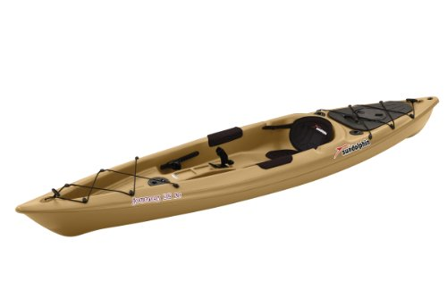 SUNDOLPHIN Journey Sit-on-top Fishing Kayak (Sand, 12-Feet)