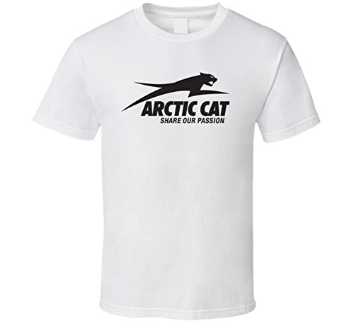 Perfect Fit T Shirts Arctic Cat ATV Extreme Snow T Shirt L White