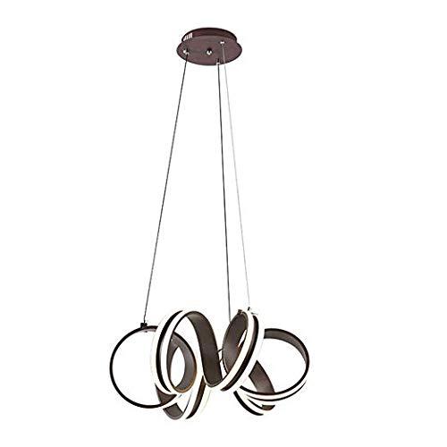 EUJEID Chandelier Light Bulbs LED Daylight, Adjustable Ceilinging Fixture Semi Flush Mount Mid Century Hanging Lamp Pendant Light for Bedroom Living Room Dining Room Kitchen, Black