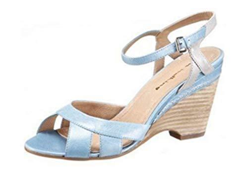 I`m En Sandalette Marche De Cuir Bleu wzwYIq5