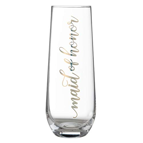 Lillian Rose G116 MH Gold Maid of Honor Stemless Champagne Glass, 5.75