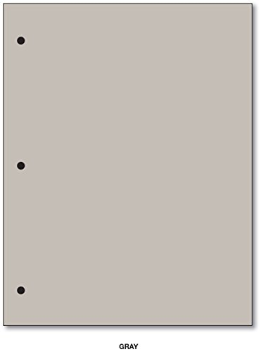 3 Hole 20lb Color Paper 8 1/2 X 11 - 100 Papers Per Pack (Gray) by S Superfine Printing