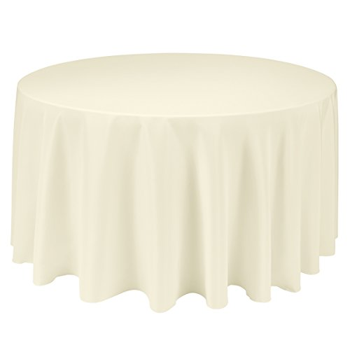 Wedding reception table cloths for 120 inch round table seats how many