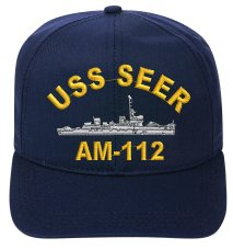 Uss Seer Am 112 Embroidered Ship Cap
