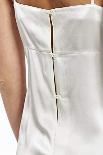 3 nbsp;colores En Seda Corta white Uni Noche Ropa Para Mujer Enagua De Camisa Satén Off Jadee Negligee Rollo 6qxWSZY