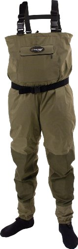 Frogg Toggs Hellbender Stout Stockingfoot Wader, Medium, New (Stockingfoot Sage)