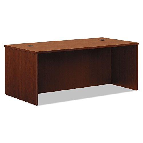 basyxamp;reg; - BL Laminate Series Rectangular Desk Shell, 72w x 36w x 29h, Medium Cherry - Sold As 1 Each - Non-handed shell can be arranged for either left- or right-handed configurations. Series Medium Cherry