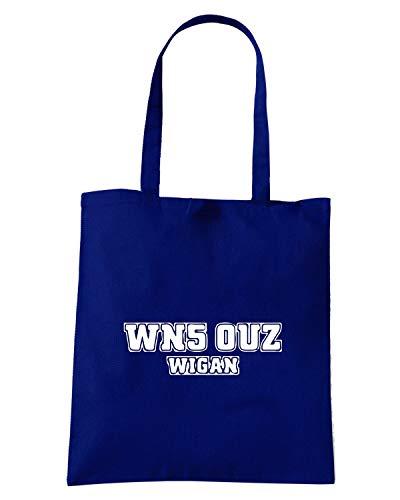 Speed Shirt Borsa Shopper Blu Navy WC1104 WIGAN POSTCODE