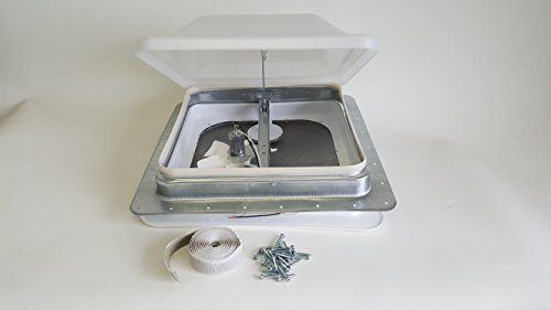 Ventline RV Roof Vent White w/ 12 Volt Fan, Putty & Screws (Exhaust Fan Roof compare prices)