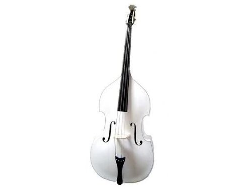 GRACE 4/4 Size White Upright Double Bass with Bag,Bow,Bridge+Free Rosin by Grace