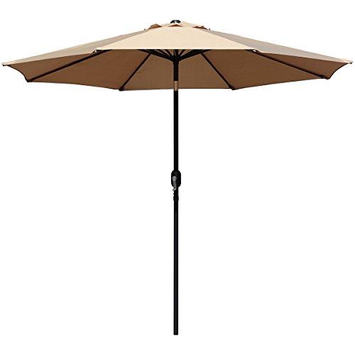 Patio Umbrella Uv Protection: ABBLE Outdoor Patio Umbrella 9 Ft With Tilt And Crank