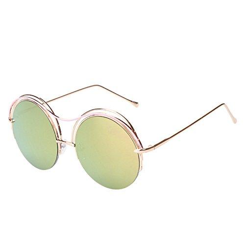soleil neutres lunettes de lunettes Petites polarisées Uv circulaires soleil de soleil réfléchissantes GAOLIXIA Yellow lunettes Light lunettes de zd1wYwq
