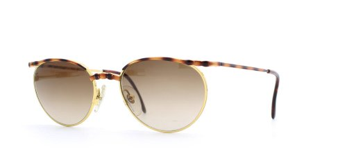Italian Graffiti 7362 T Gold and Brown Authentic Women Vintage - Italian Vintage Sunglasses