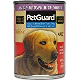 Pet Guard Lamb and Brown Rice Food for Dogs, 14-Ounce Cans (Pack of 12), My Pet Supplies