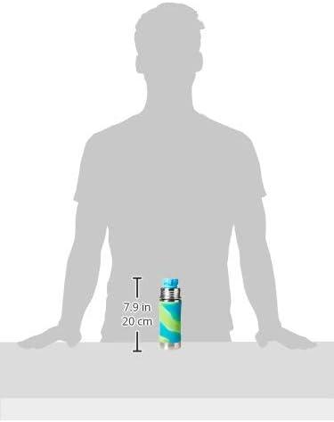 Kunststoff, ungiftig zertifiziert, frei von Giftsoffen Pura 11 Oz//325 ml Edelstahl Kinder Sport Flasche mit Silikon Sport Flip Cap /& /Ärmel