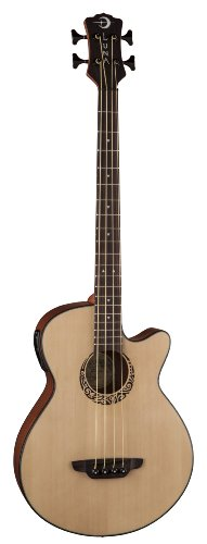 Luna LAB30TRIBAL Tribal Spruce Top Short Scale Acoustic Elec