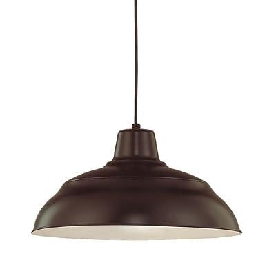 "Millennium Lighting RWHC17 R Series 1 Light 17"" Wide Warehouse Pendant,"