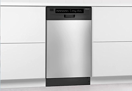 Frigidaire FFBD1821MS 18 Built-in Dishwasher, Black/Silver, 18 inches,