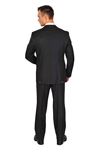 Paoloni Abito Uomo Nero Blazer, pantaloni nero 54 normale