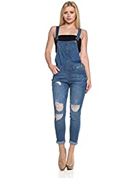 Women's Classic and Distressed Skinny Jumpsuit Overalls