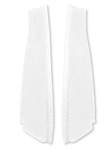Plus Size White Vest with Lace Back --Size: 3x Color: White