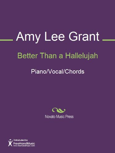 Better Than A Hallelujah Sheet Music Pianovocalchords Kindle