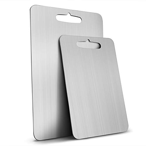304 Food-grade Stainless Steel Cutting Board for Kitchen Dishwasher Safe Fit Vegetables Breads Meats -