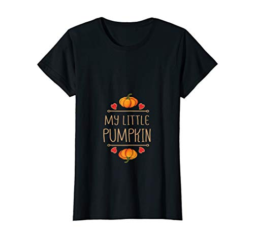 Womens My Little Pumpkin : Halloween Pregnancy Mom Women Costume T-Shirt