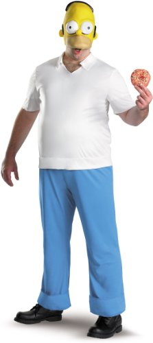 Disguise Men's Homer Deluxe,Multi,XL (42-46) Costume -