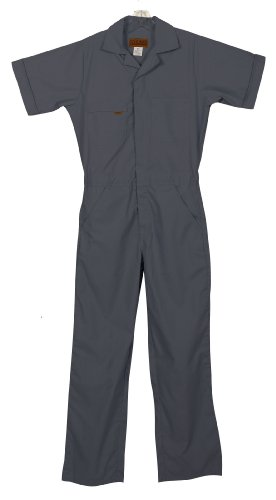 Relaxed Fit Coverall (Five Rock Poplin Short Sleeve Unlined Coverall Relaxed Fit in Charcoal 2XL)