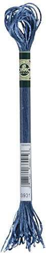 DMC 1008F-S931 Shiny Radiant Satin Floss, Antique Blue, 8.7-Yard (Dmc Floss Antique)