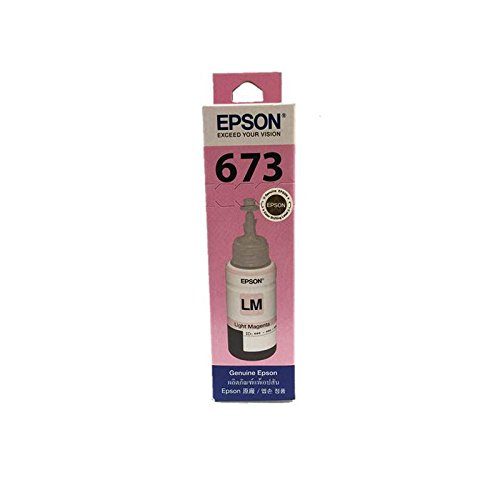 EPSON 673 (T6736) Ink Bottle Tank System Inkjet Refill for EPSON Printers, Light Magenta ink, Pack 1 pcs.