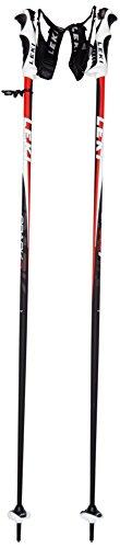 LEKI Erwachsene Skistock Spark S, Base Color: Black/ Design: Anthracite-White-Red, 125 cm, 637-6644