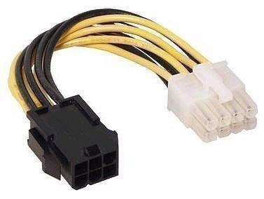 Anschluss-Adapter Grafikkarte 6-Pol PCI-Express auf 8-Pol PCI-Express 2.0