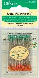Clover Needlecrafts Bulk Buy Quilting Pins Fine 100 Pack Q2509 (2-Pack) by CLOVER