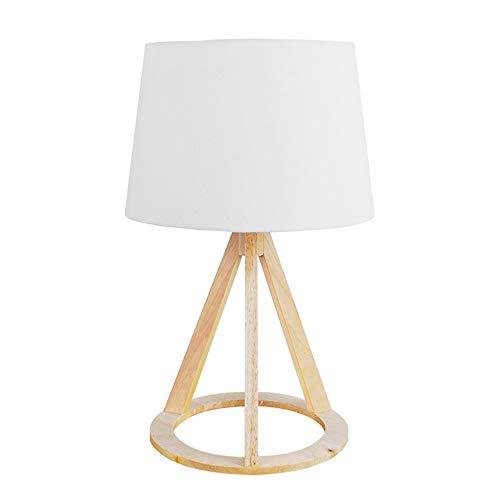 QEQ Lámpara de Mesa de trípode de Madera,luz de Madera ...