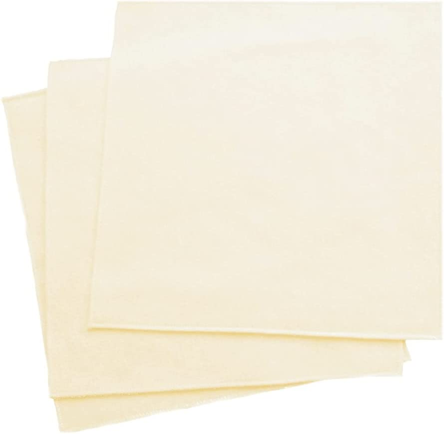Organic Handkerchiefs Co, Men's Pocket Squares, Unbleached Cotton, 11 inch Pack of 3