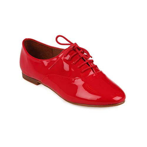 Rojo La Mujer Zapatos rojo de Modeuse Cordones nnHZ6q