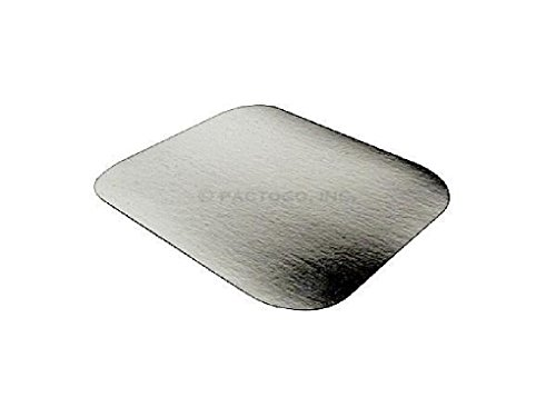 (Foil Laminated Board Lid for 1 lb. Oblong Aluminum Containers 500/PK - LIDS ONLY )