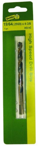 L.H Black and Gold 11//32-Inch Diameter by 4-3//4-Inch Length Dottie HS22C Drill Bit
