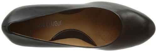 Clarks Anika Kendra 203543674 - Zapatos de tacón de cuero para mujer Negro (Black Leather)