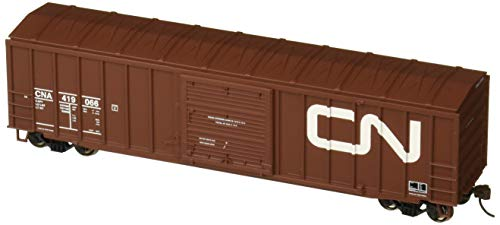 Bachmann 50' Ouitside Braced Box Car with Flashing End of Train Device-Canadian National Hobby Freight, Prototypical Brown ()