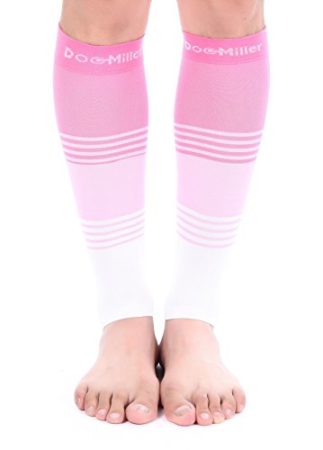 Premium Calf Compression Sleeve Dress Series 1 Pair 20 30Mmhg Strong Calf Support Graduated Pressure Sports Running Recovery Shin Splints Varicose Veins Xl 2Xl Doc Miller  Pinkpinkwhite  Large