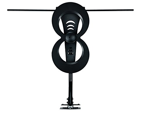 Antennas Direct ClearStream 2MAX 60 Mile Extreme Range Multi-Directional HDTV Antenna, UHF/VHF Channels Indoor/Outdoor 4K Ready, Black (Renewed)