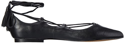 Femme black Noir Leather Ballerines Windsor Smith Strapp q6pnOW4z